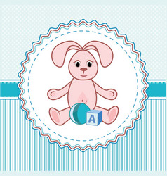 Label toys a rabbit vector