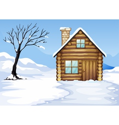 landcape and house vector image