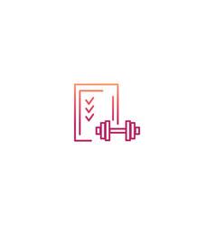 minimal planning sport icon vector image