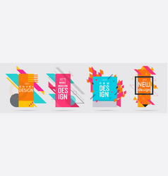 minimalistic hipster colored frame design vector image
