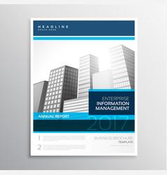 Modern company business flyer brochure design vector