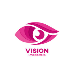 modern vision and eye logo vector image
