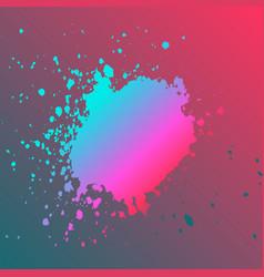 neon explosion paint splatter artistic template vector image
