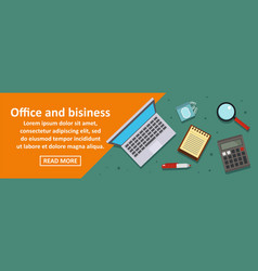 office and business banner horizontal concept vector image