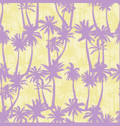 Palm tree pattern seamless hand drawn textures on vector