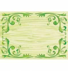 plant frame vector image