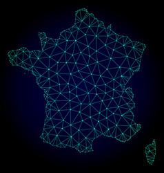 polygonal 2d mesh map of france vector image