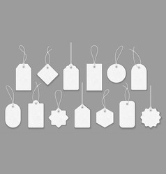 price tag collection paper labels set vector image