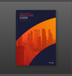 real estate report brochure cover design layout vector image
