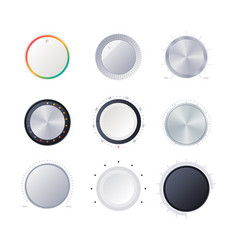 round scale indicators amplifier power volume vector image