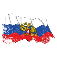 Russia State Flag Grunge vector image
