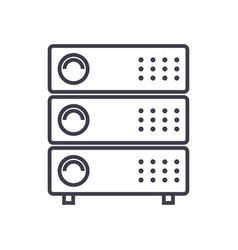 servers line icon sign vector image
