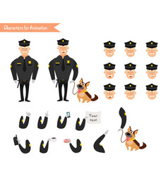 Set of colorful isolated policeman at work vector
