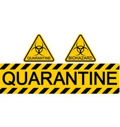 Sign symbol quarantine zone area stop novel vector
