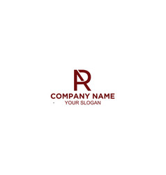 Simple ra logo design vector