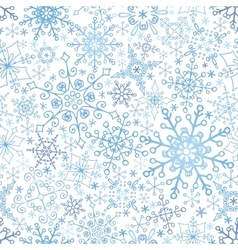 Snowflakes lace seamless patternWinterChristmas vector image