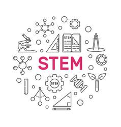 stem minimal round in thin vector image