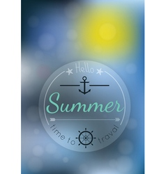 summer time blur background vector image