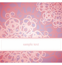 Sweet pink floral card or invitation vector image