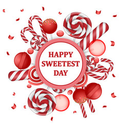 sweetest day concept background realistic style vector image