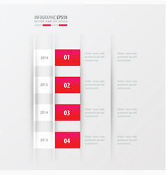 timeline design design pink gradient color vector image