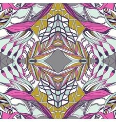 Traditional ornamental paisley bandanna Pink vector