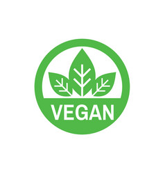 Vegan - business icon on white background vector