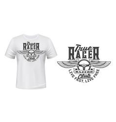 winged car steering wheel t-shirt print vector image