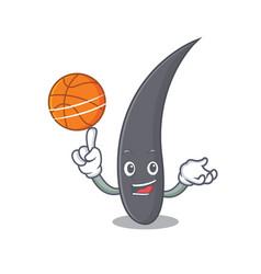 With basketball hair character cartoon style vector