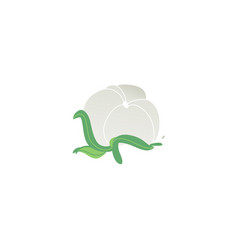 cartoon abstract field white flower icon vector image