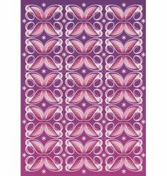 floral textile pattern vector image vector image
