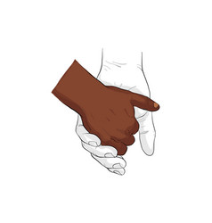 hand holding hand together vector image