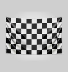 hanging checkered flag race or winner flag vector image