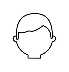 head man male thin line vector image