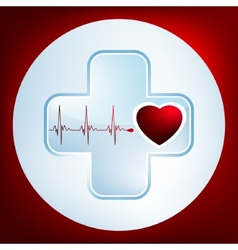 Heart and heartbeat symbol EPS 8 vector image vector image