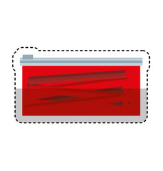 pencil case isolated icon vector image vector image