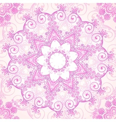 Pink ornate lacy seamless pattern vector image
