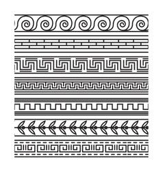 Seamless greek pattern set vector image vector image