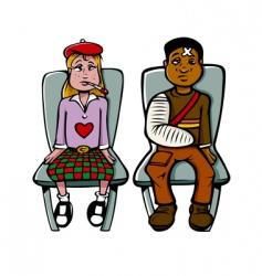 sick kids doctor vector image vector image