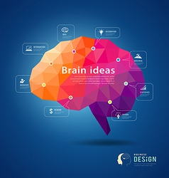 Brain idea geometric info graphics design vector image vector image