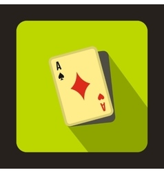 Cheating at play icon flat style vector image vector image