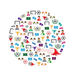 Soccer circle Icons set eps10 vector image vector image