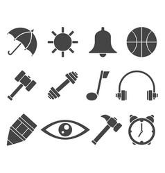 web icon set symbol vector image