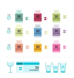 Bottles with pills for your design vector image vector image