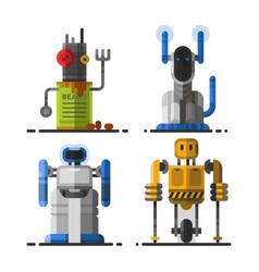 cute vintage robot technology machine future vector image
