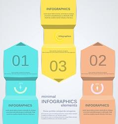 minimal infographics 2 vector image vector image