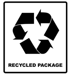 Recycled package symbol or sign of conservation vector image vector image