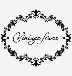 vintage frame flower ornament vector image