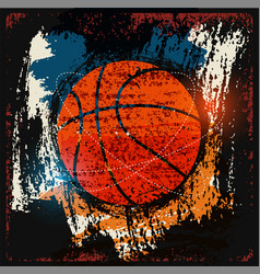 basketball typographical vintage grunge poster vector image vector image