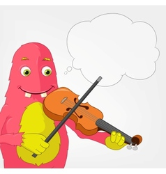 Funny Monster Violinist vector image